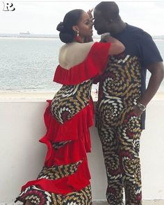 Stylish african print ankara designs for couples, couples african fashion ankara styles, beautiful matching ankara styles for couples African Attire, African Wear, African Women, African Dress, African Outfits, African Style, African Clothes, Unique Ankara Styles, Beautiful Ankara Styles