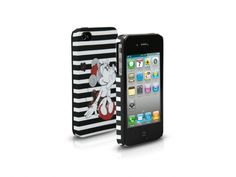 Rigid PVC case for iPhone 4/4S, subject Minnie Stripes  http://www.sbsmobile.com/iphone/fashion_disney/1397_disney-case-for-iphone-44s.html
