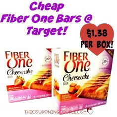 PRINT NOW for CHEAP Fiber One Cheesecake Bars! Pay only $1.38 after coupon and cartwheel! Stock up!  Click the link below to get all of the details ► http://www.thecouponingcouple.com/cheap-fiber-one-cheesecake-bars-target/  #Coupons #Couponing #CouponCommunity  Visit us at http://www.thecouponingcouple.com for more great posts!