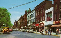 Park Street looking North, postcard image, Warren Ohio, circa late 1950's | by Downtown Warren History
