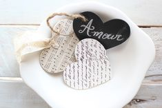 A heart for Shabby...easy handmade heart gift tags  - Craftberry Bush - french script and chalkstock - canvas corp