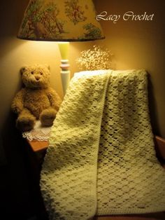 A new free baby blanket crochet pattern from Lacy Crochet