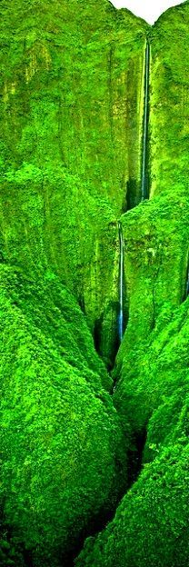 Honokohau Falls, the tallest waterfall on Maui, Hawaii