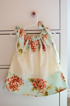 Floral and Ivory Pillowcase Dress  24 Months2T by thelilredwagon, $18.95