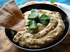 Baba Ganoush because Maggie LOVES eggplant and this is a perfect #vegetarian dish that's SUPER healthy