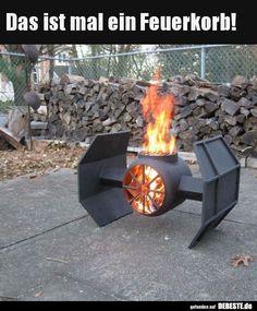 Das ist mal ein Feuerkorb!