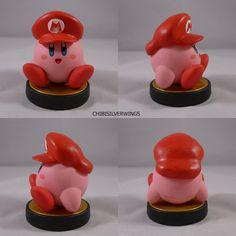 Kirby Mario Cap Hat Amiibo Custom by Chibisilverwings