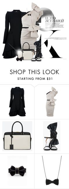 """""""Simple"""" by sophisticatedignorance21 ❤ liked on Polyvore featuring Alexander McQueen, Lanvin, Yves Saint Laurent, Maison Margiela, Cara and Tatty Devine"""