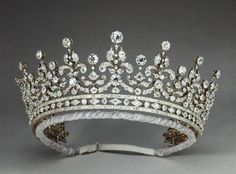 Queen Mary's Girls of Great Britain and Ireland Tiara. E. Wolff & Co.1 for R. & S. Garrard & Co., 1893.. Diamonds, silver and gold.
