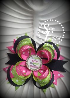 Bigger the Bow better the Mommy Bottlecap Hair Bow by Sewfaithful2, $5.50
