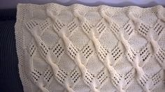 Cable Knit Throw - close up