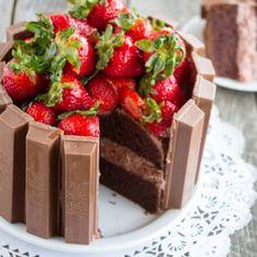 KitKat cake!!! with strawberries