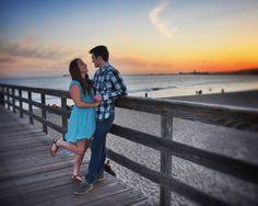 Sarah & Josh's Engagement Photo shoot in Seal Beach #HappilyEverYoder #emilyjeanmaplesphotography