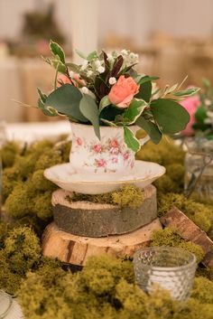 Wedding Decorations, Table Decorations, Woodland Garden, Spring Blooms, Crow, Natural Wood, Delicate, Place Card Holders, Cottage