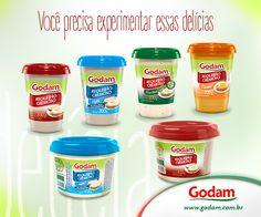 Você precisa experimentar os requeijões Godam! Hummm que delícia! Acesse nosso site: www.godam.com.br
