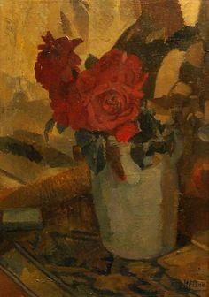 Henri Fréderic Boot, Stilleven met rozen.