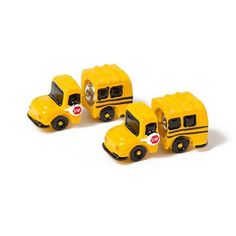 School Bus Front and Back Stud Earrings