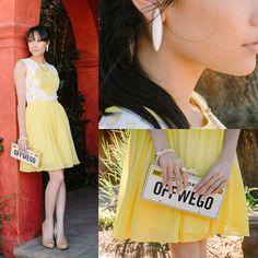 etta earring, summer style, bracelets, dresses, white, estell bracelet, yellow, aso fashion, earrings