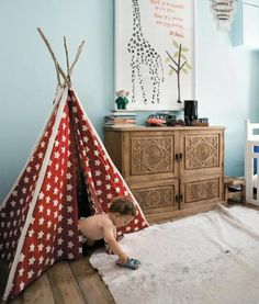 teepee and cabinet