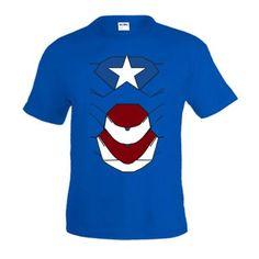 Camiseta Ironman - PATRIOT , Azul manga corta (Talla: TALLA-XXXL) #regalo #arte #geek #camiseta