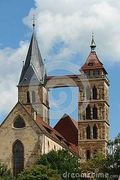Church of the city Esslingen am Neckar
