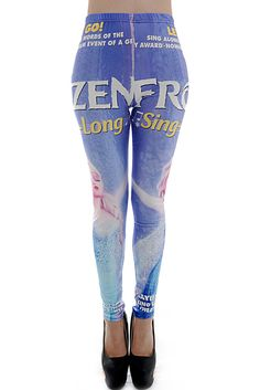 Digital Cartoon Print Leggings