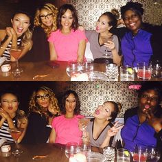 REAL Fun With REAL Friends! Take 1  Take 2  LOL. I love these women... @tamarbraxtonher @tameramowrytwo @thejeanniemai & Au Natural @comiclonilove ~ Her skin is GORG! #TheReal #FridayNight #LA #BartonG!