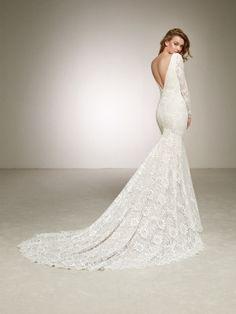 all-lace wedding dress