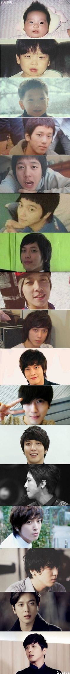 Jung Yong Hwa from baby to present