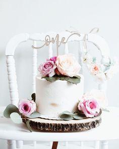 Semi naked cake Floral 1st birthday boho 1st birthday first birthday