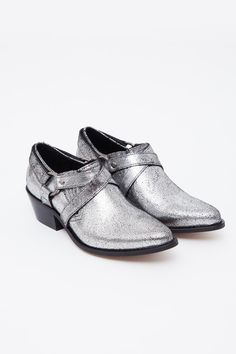 Cracked Silver Desi Harness Shoe by To Be Announced  via @shopacrimony