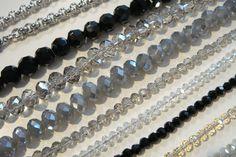 Verschiedene Kristall-Einsätze für die DeLuxe Wechselkette aus Edelstahl