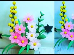 🍀Nylon stocking Flower making🌼 การทำดอกไม้ด้วยดอกบัวผ้า Nylon Flowers, Wire Flowers, Green School, Nylon Stockings, Handmade Flowers, Flower Making, Pink Yellow, Flower Arrangements, Diy And Crafts