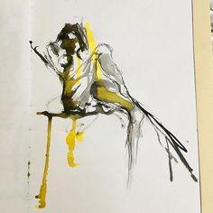 Chinatinte und ecoline Skizze auf Papier . . . #aquarellieren  #ecoline #geburtstagsgeschenk #artstudio #creativeprocess #bettinaobristART #inspired #instaarts #studiotime #art #expressionismus #Frühling #canoneos750d China, Instagram, Art, Dyes, Paper, Sketches, Drawing S, Expressionism, Kunst