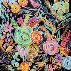 Liven up your home décor with the Bright Floral Accent Art Visit your local At Home store to purchase and find other affordable Home Décor. Canvas Wall Art, Canvas Prints, Diy Canvas, Wall Mural, Bohemian Art, Arte Floral, Chalkboard Art, Painting Inspiration, Diy Art