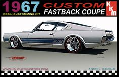 Possible model box art for the up coming '68 Cougar fastback model kit.