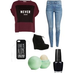 A fashion look from January 2015 featuring Pull&Bear t-shirts, H&M jeans and ALDO boots. Browse and shop related looks.
