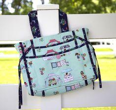 Mama Mia Bag Pattern from Katie Cupcake featuring Vintage Market by Tasha Noel for Riley Blake Designs #iloverileyblake #vintagemarket #tashanoel #mamamiabag #katiecupcake