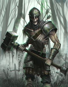Skeleton warrior. by victter-le-fou.deviantart.com on @DeviantArt
