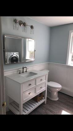 First Choice Scott Living Canterbury White 36 In Single Sink Poplar Bathroom Vanity With