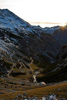 Umbrail Pass, Graubunden, Switzerland