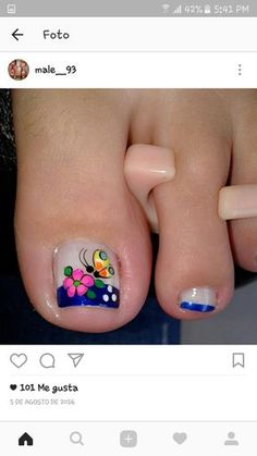 Pedicure Essentials and Designs Star Nail Designs, Toe Designs, Pedicure Designs, Cute Nail Designs, Pedicure Nail Art, Toe Nail Art, Manicure Ideas, Hot Nails, Toe Nail Designs