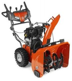 Husqvarna ST Two-Stage Self-Propelled Gas Snow Blower with Push-Button Electric Start; Headlight(s); Heated Handles at Lowe's. Husqvarna ST two-stage electric start gas snow blower with power steering, heated handles and headlight. Electric Snow Blower, Electric Pencil Sharpener, Riding Lawn Mowers, Lawn Care, Outdoor Gardens, Outdoor Power Equipment, Outdoor Living, Stage, Recipes