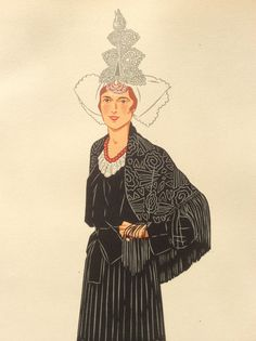 Vintage 1930s Pochoir Fashion Print Illustration by Thepapermuseum, $40.00
