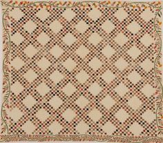 Barbara Brackman's MATERIAL CULTURE: Newly Discovered Susan McCord Triple Irish Chain Quilt