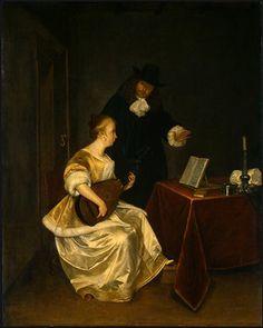 TICMUSart: The Music Lesson - Gerard Terborch (1670) (I.M.)