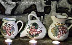 Brocca di ceramica decorata a mano hand-painted #Italy