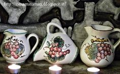 Brocca di ceramica decorata a mano hand-painted #Italy