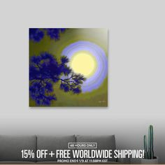 Discover «Harest Moon», Limited Edition Acrylic Glass Print by Glink - From $75 - Curioos