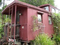 """My dad would of loved to live in this when he retired from the CNW railroad. Tony at the Wisconsin Dells said.. """"Linda! You need a caboose"""" He has a hot dog place that he made out of a old caboose. Some people are just the sweetest gifts from God (:"""
